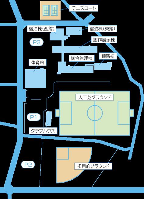 くまぴあ施設内マップ