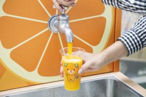 愛媛県で水道の蛇口からみかんジュース